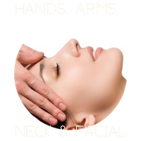 hands arms neck facial massage treatment session therapist heanor derbyshire uk