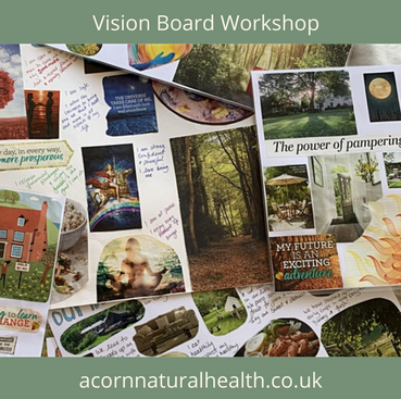 vision board workshop derbyshire nottinghamshire manifesting law of attraction meditation hypnotherapy near me uk